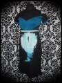 Black dress blue details Design By Humans moonlight print - size M/L
