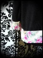 Black loose sweater pink details - size M to XL