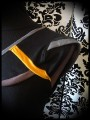 Haut noir détails gris jaune taupe - taille S/M
