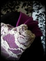 Plum / cream lace twisted turban