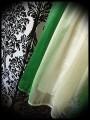 Robe verte / crème mousseline - taille S/M