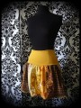Printed skirt yellow orange brown - size S/M/L