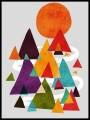 Tunic top Threadless geometric print - size S/M
