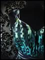 Haut fluide à ceinture léopard dégradé vert/turquoise - taille M/L