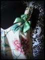 Robe trapèze à poches écrue motif floral - taille S/M