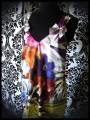 Robe trapèze à poches multicolore motif floral - taille M/L