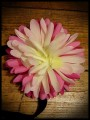 Bandeau serre-tête ou barrette broche fleur ROSE