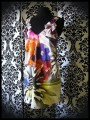 Multicolored trapeze dress w/ pockets floral print - size M/L