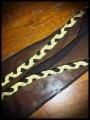 Haut babydoll boléro intégré gris jaune + foulard - taille S/M
