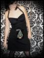 Black halter dress LED Christmas tree - size S/M