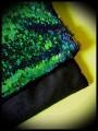 Sac pochette noir sequins réversibles bleu vert / noirs