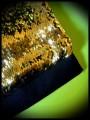 Black bag clutch gold/black reversible sequins