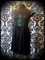 Robe noire détails sequins réversibles bleu/vert - taille S/M