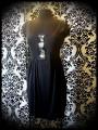 Robe noire détails sequins réversibles argent / noir - taille M/L