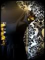 Robe noire détails sequins réversibles doré / noir - taille S/M