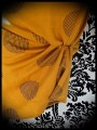 Robe jaune moutarde pois noirs - taille S/M
