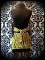 Mini jupe jaune rayures noires détails noirs - taille S/M