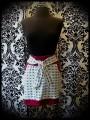Mini jupe blanche têtes de mort noires détails rouges - taille M/L