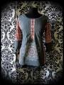 Grey top aztec details mandala print - size M/L