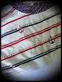 Crop top motif ancres bleu blanc rouge détails blancs - taille M