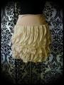 Beige nude skirt with cascade ruffles - size M/L