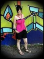 Hot pink top with multi straps - size M/L