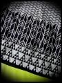 Haut ample motifs géométriques détails bleus - taille S/M