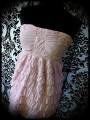 Robe bustier longueur ajustable rose pâle - taille S/M