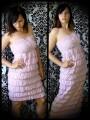 Ivory strapless dress adjustable length - size XS/S