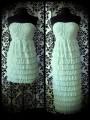Robe bustier longueur ajustable vert d'eau - taille M/L