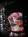 Strapless top w/ pockets geometrical print - size S/M