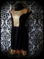 Black dress gold fishscale mermaid print - size S/M