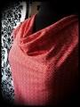 Robe à poches et col bénitier rouge motif japonais - taille S/M