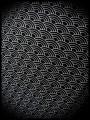 Black draped dress with pockets Japanese print - size M/L