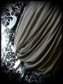 Plum beige bubble dress with black lace detail - size S/M
