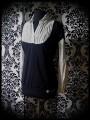Haut superposé noir chemise gris clair - taille M/L