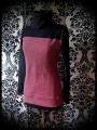 Dust pink sweater w/ cowl neck black glitter details - size S/M