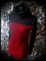 Dark red sweater w/ cowl neck black glitter details - size M/L