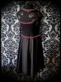 Robe noire détails roses dentelle découpe au dos - taille S