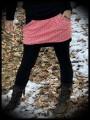 Mini skirt with pockets geometrical print