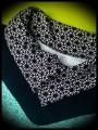 Robe à col motif géométrique détails noirs