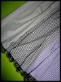 Robe vichy taupe/marron/lilas détails bronze - taille S/M
