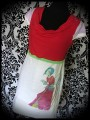 White red lilac dress print by A. Hess (1) - size S/M