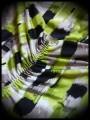 Robe bustier asymétrique vert anis/noir - taille XS/S
