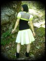 Lime green/taupe/cream shrug - size S/M