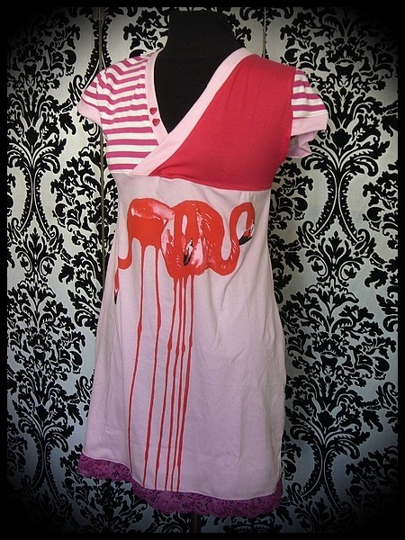 "Pink/red dress Flamingo Threadless ""Flamenco"" - size M/L"