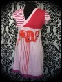 Robe rose/rouge flamants roses Threadless Flamenco - taille M/L