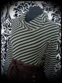 Brown black khaki green dress cowl neck - size S/M