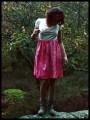 Robe tie & dye rose col bénitier dentelle - taille S/M