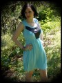 Mint blue/black dress - size S/M